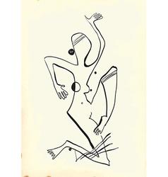 Art of Line Art - Woman vector image