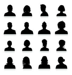 Avatars silhouettes vector