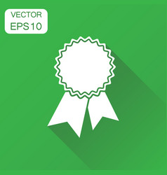 badge with ribbon icon business concept award vector image