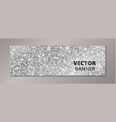Banner with silver glitter background sparkling vector