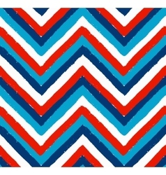 Blue white red painted chevron pattern vector