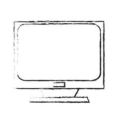 Blurred silhouette lcd monitor for desk computer vector
