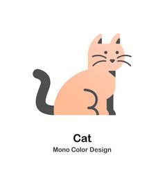 cat mono color icon vector image
