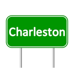 Charleston green road sign vector