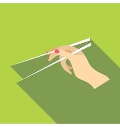 Chopsticks icon flat style vector image