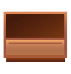 Classic nightstand icon cartoon style vector