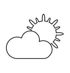 Climate application isolated icon vector
