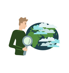 Climate scientist vector