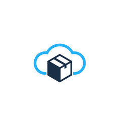 Cloud box logo icon design vector