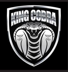 Cobra silver head head snakemascot logo vector
