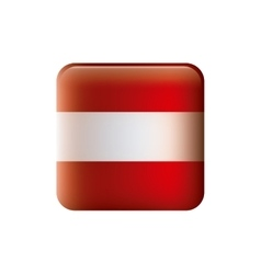 color silhouette with flag of austria in square vector image