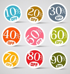 Colorful Circle Sale Tags vector image