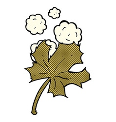 comic cartoon old leaf vector image