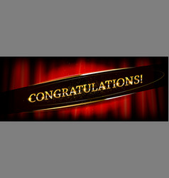 congratulations calligraphy lettering vector image