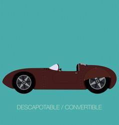 convertible classical car02 vector image