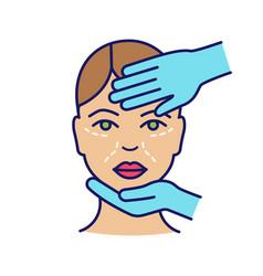 Cosmetologist examination color icon vector