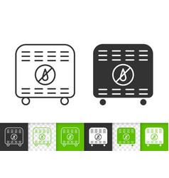 dehumidifier simple black line icon vector image