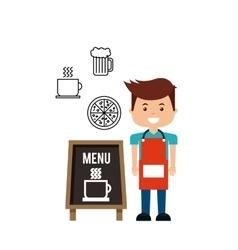 Delicious menu restaurant urban vector
