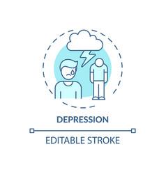 Depression blue concept icon vector