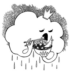 depressive cloud vector image