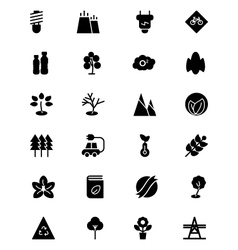 Ecology Icons 3 vector image