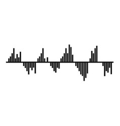 equalizer signal icon simple black style vector image