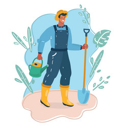 farmer with showel vector image
