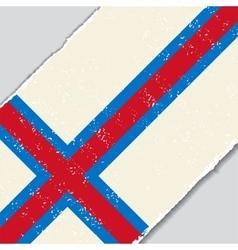 Faroe Islands grunge flag vector