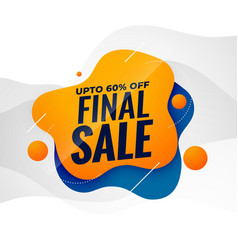 final sale attractive sale banner poster design vector image