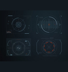 Futuristic hud virtual control panels hologram vector