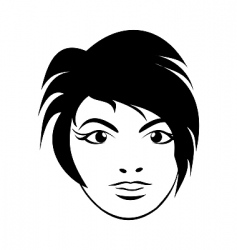 girl face close up vector image