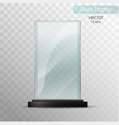Glass trophy award vector