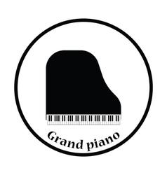 Grand piano icon vector image