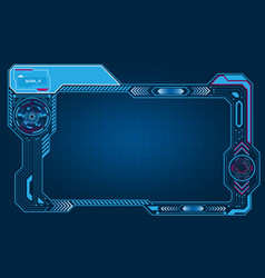 Graphic presentation asymmetric computer panel vector