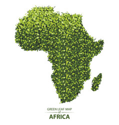 Green leaf map of africa of a vector