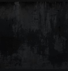 Grungy black metal concrete wall texture vector
