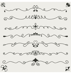 hand drawn designe elements vector image