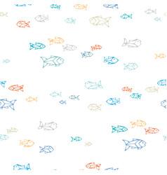 Hand-drawn seamless fish pattern vector