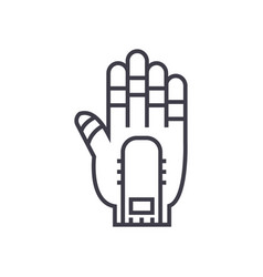 hand manipulator line icon sign vector image