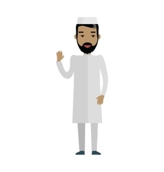 Handsome arab man with cheerful attitude vector