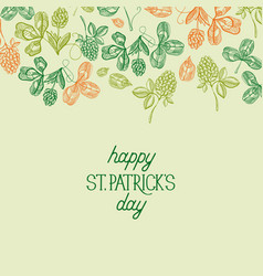 happy saint patricks day festive template vector image