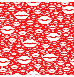 heart kiss pattern vector image