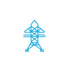 high-voltage networks linear icon concept high vector image