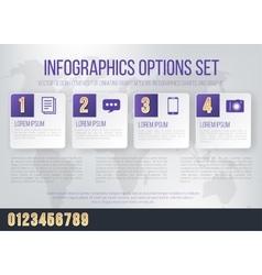 Infographics font set vector image