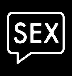 Inscription sex simple icon black and vector
