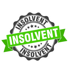 Insolvent stamp sign seal vector