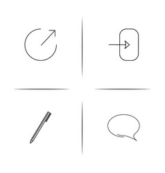 interface simple linear icon setsimple outline vector image