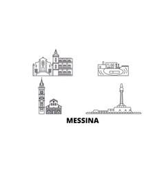 Italy messina line travel skyline set italy vector