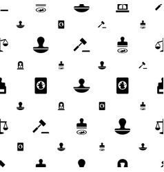 Legal icons pattern seamless white background vector