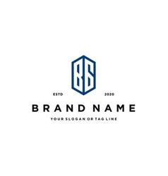 Letter bg logo icon design vector